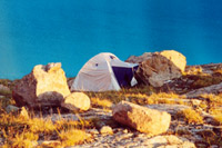 Camping on Alakol lake. Click to enlarge