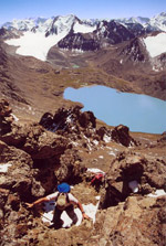 Alakol lake. View from Alakol pass. Click to enlarge