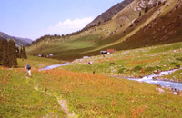 Altyn-Arashan valley. Click to enlarge